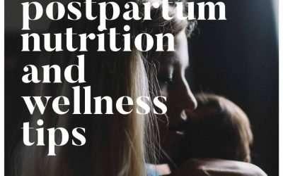 Nutrition + Wellness For a Postpartum Mama